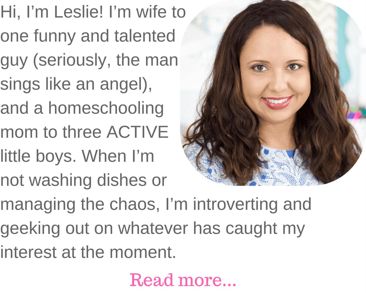 Hi, I'm Leslie!