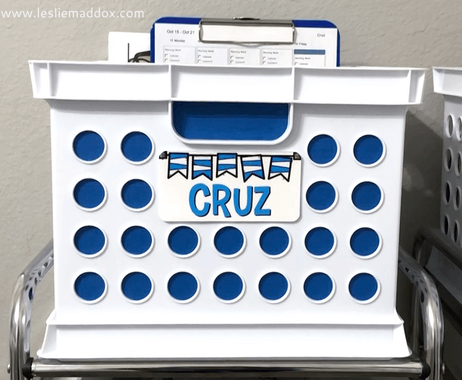 Crate for Homeschool Workboxes