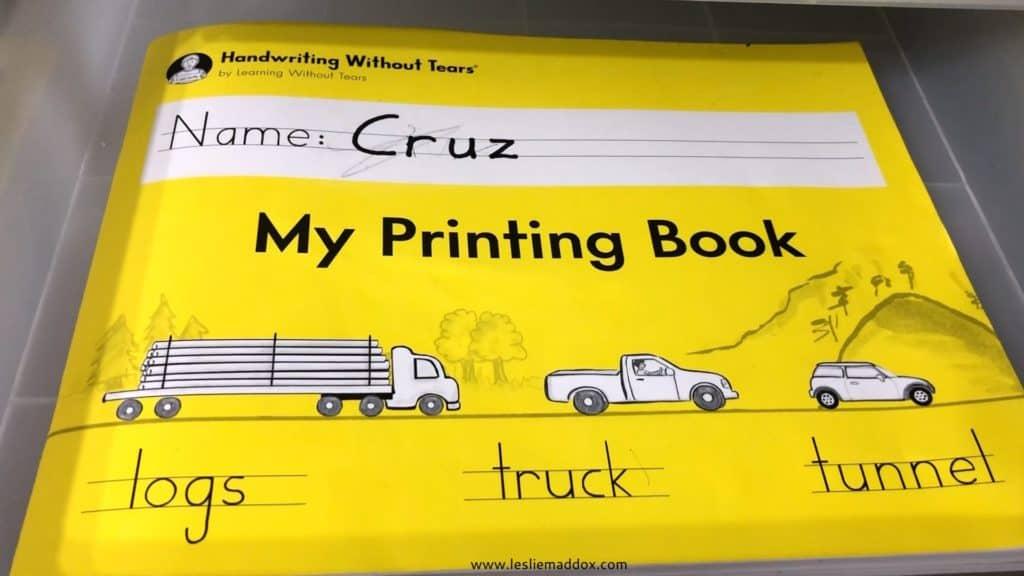 Homeschool Workboxes - Handwriting