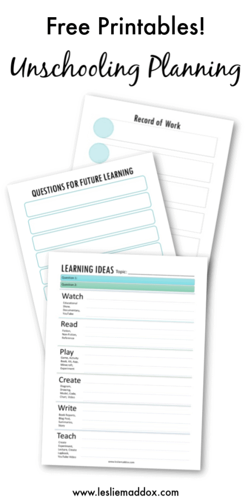 Unschooling Learning Plan