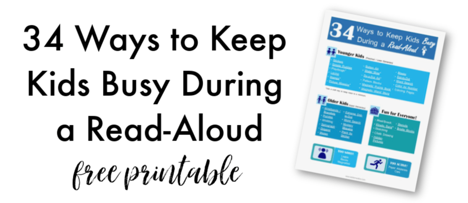 Read-Aloud Activities to Keep Little Hands Busy