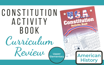American History Curriculum Supplement Review: U.S.A Constitution Activity Book