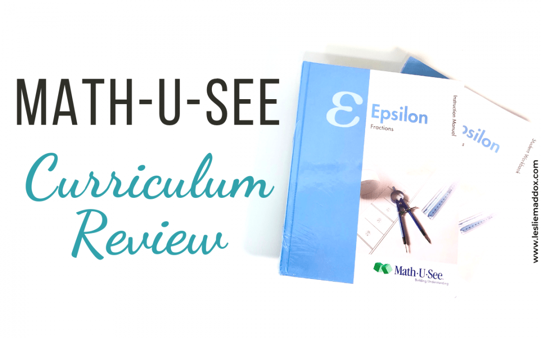 Math-U-See Curriculum Review