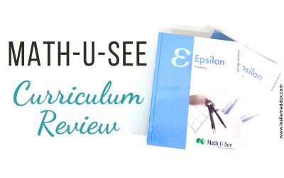 Math-U-See Curriculum Review