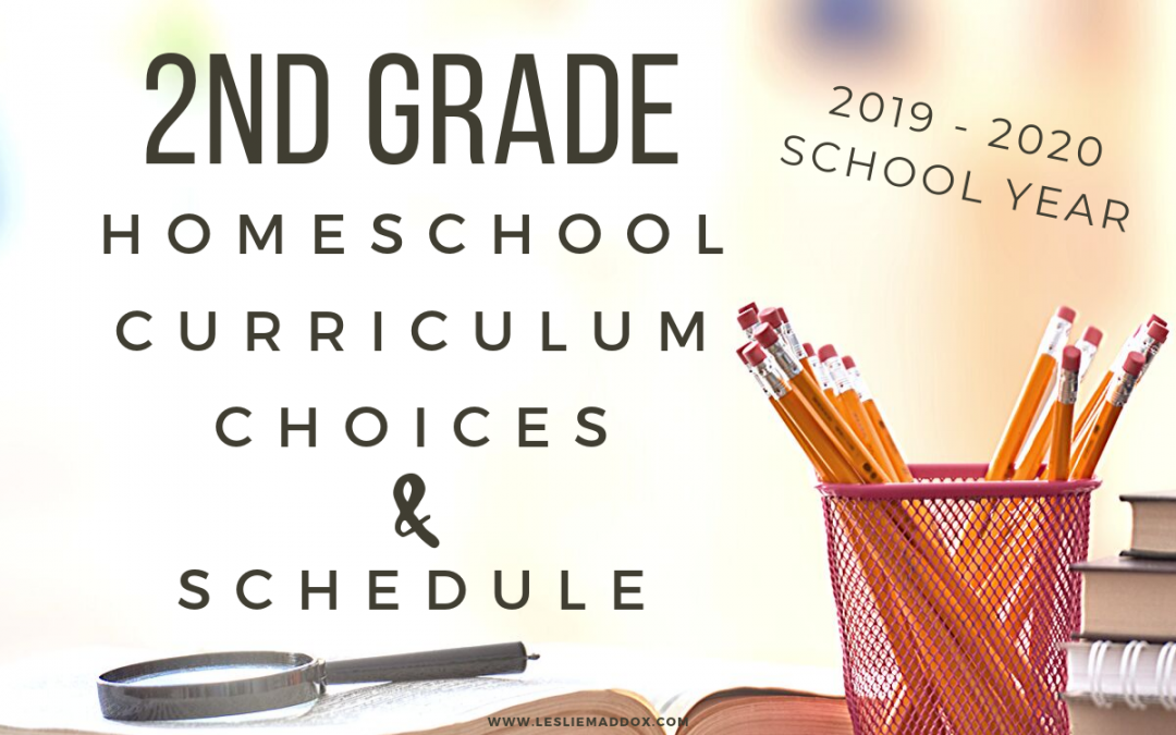 Homeschool 2nd Grade Curriculum Choices 2019-2020