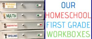 Homeschool First Grade Workboxes