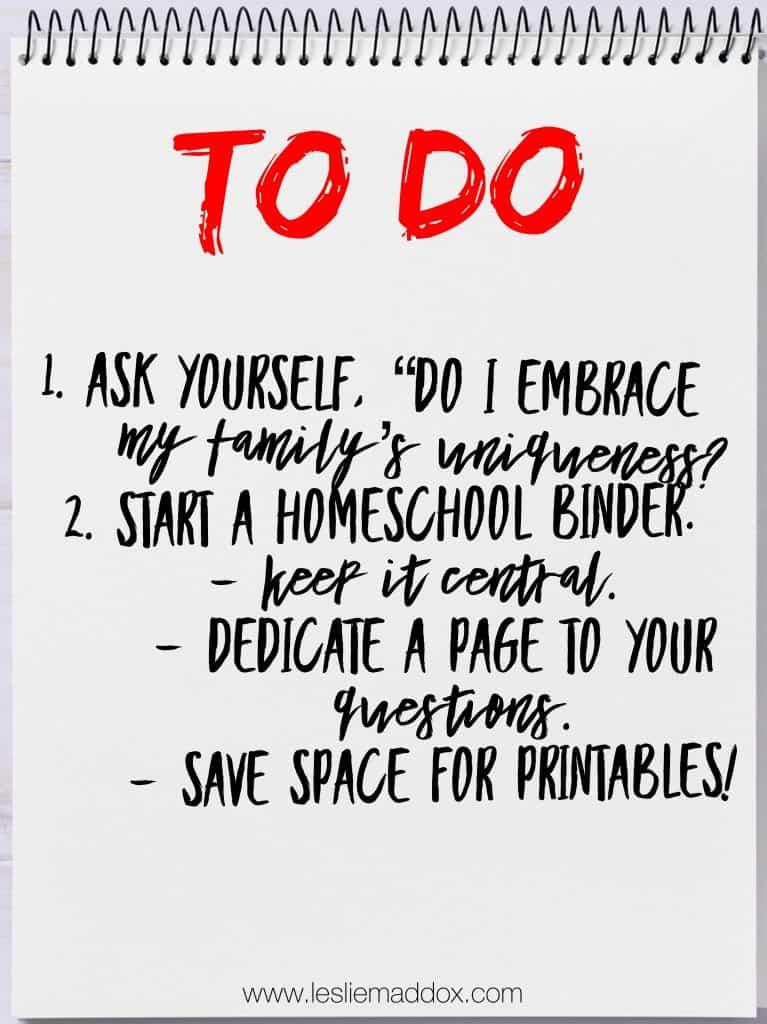 How to Homeschool - To Do List