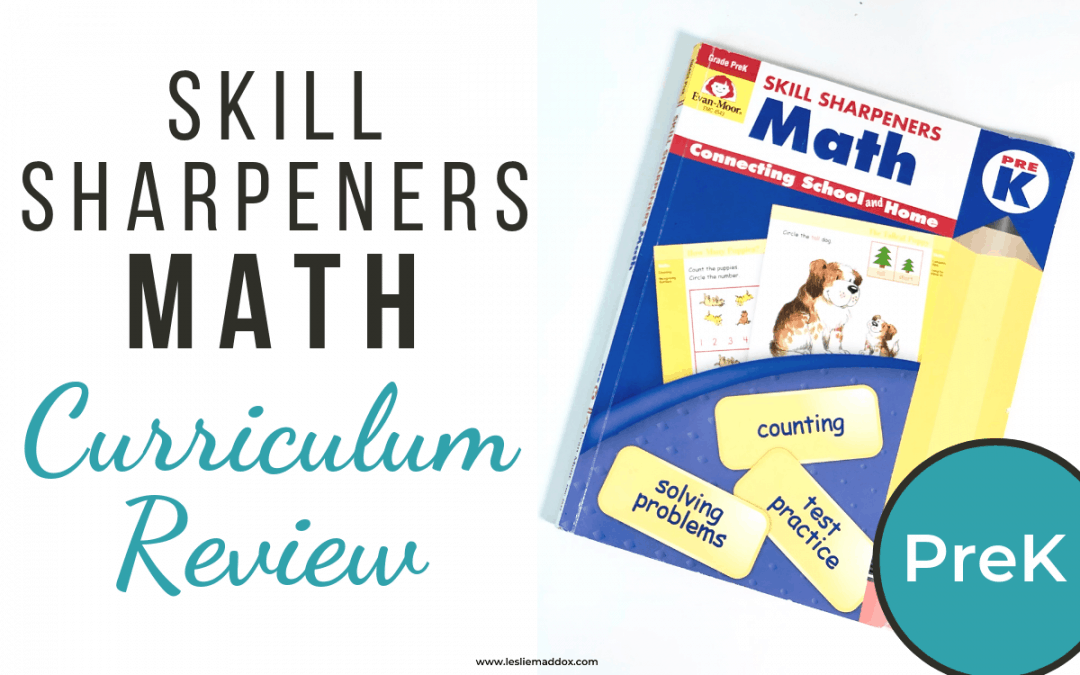 Math Curriculum Review – Evan-Moor Pre-K Workbook