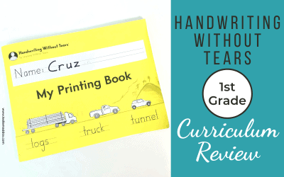 Handwriting Without Tears Review – First Grade