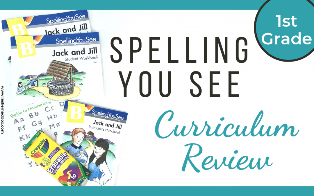 Spelling You See Curriculum Review