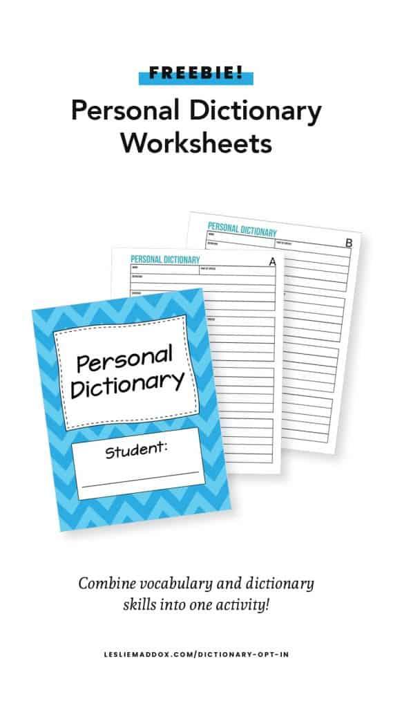 vocabulary printable