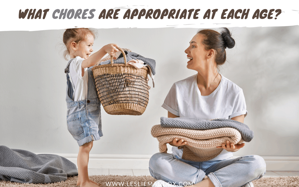 chores by age printable