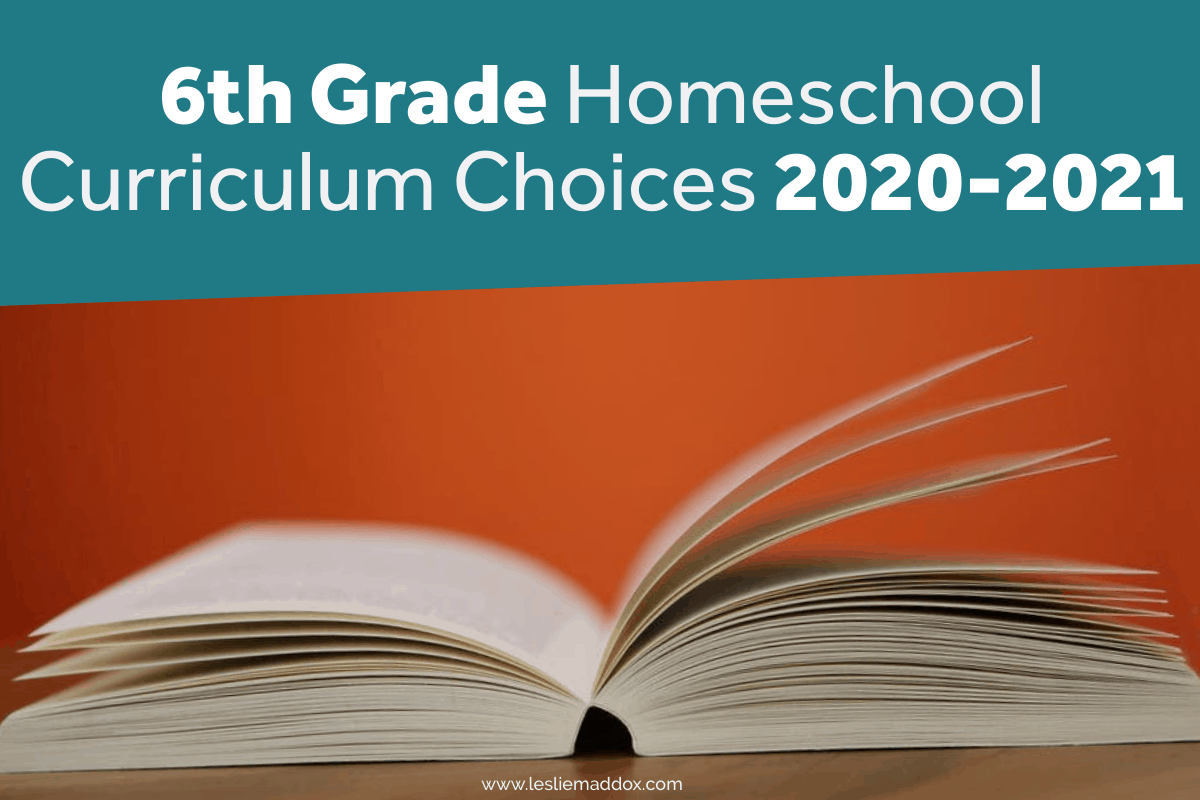 6th grade homeschool curriculum