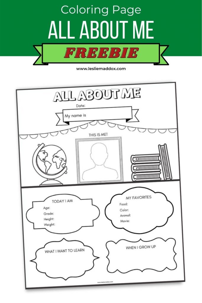 All About Me Printable Coloring Page