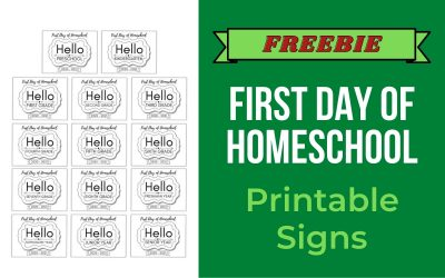 First Day of Homeschool Signs 2020-2021