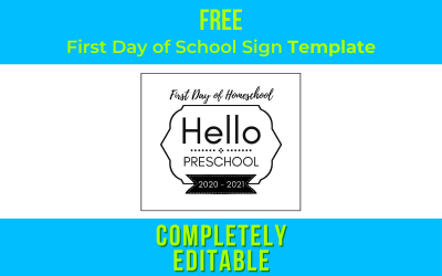 Back to School Sign Template Tutorial