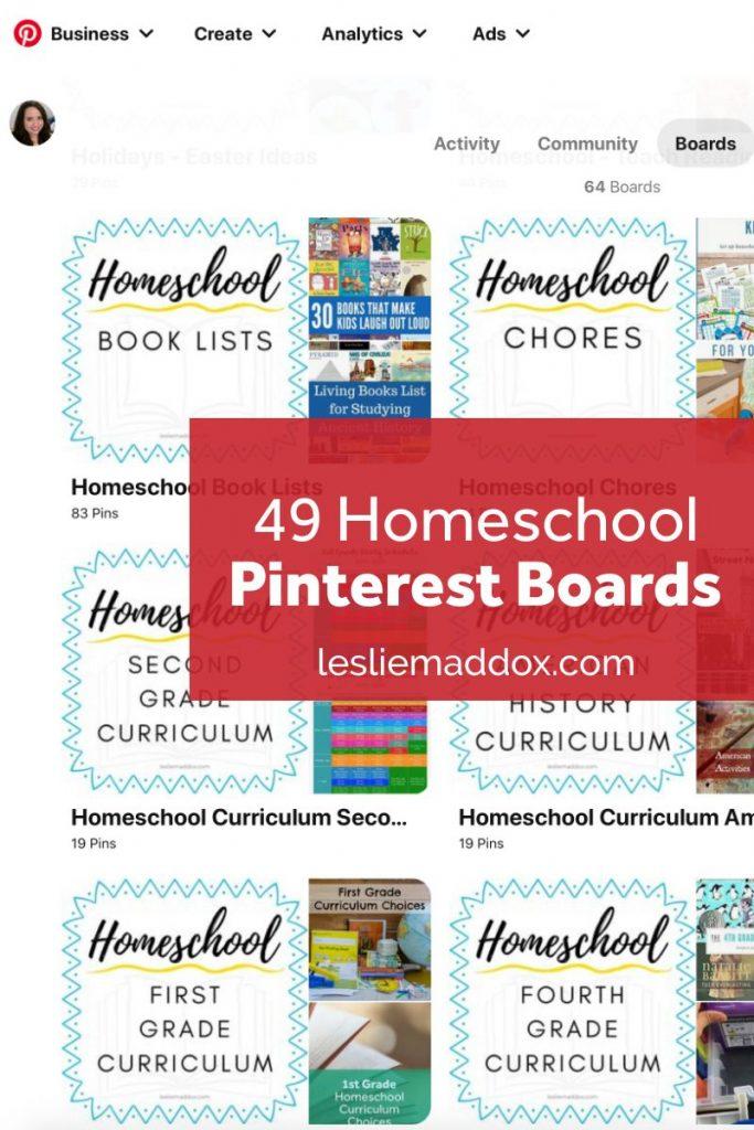 Pinterest Boards Homeschool