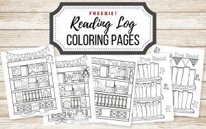 Free Coloring Reading Log Printable