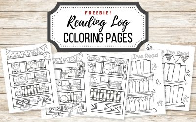 Free Coloring Reading Log Printable