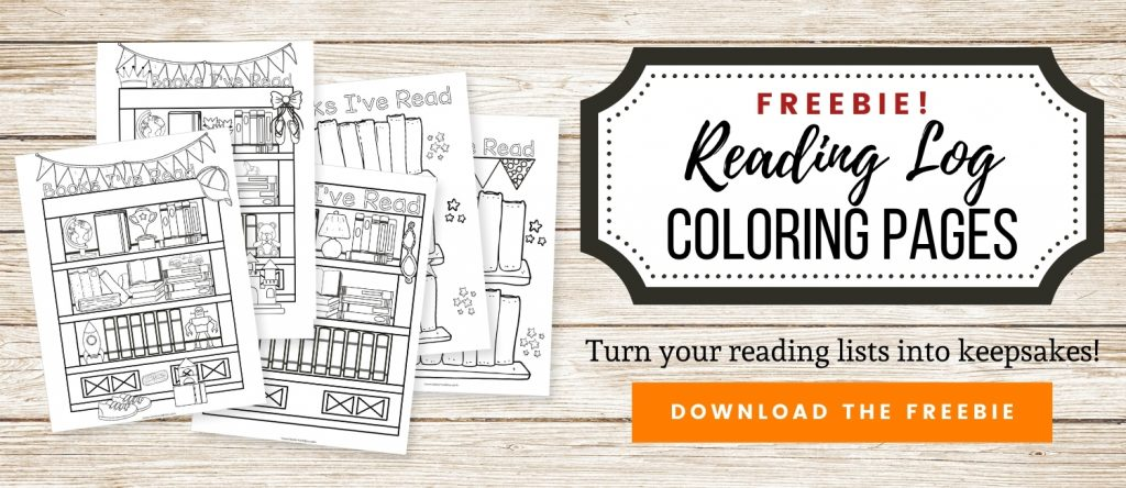 Download link for coloring reading log printable.