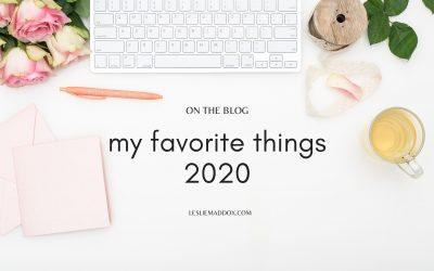 My Favorite Things 2020