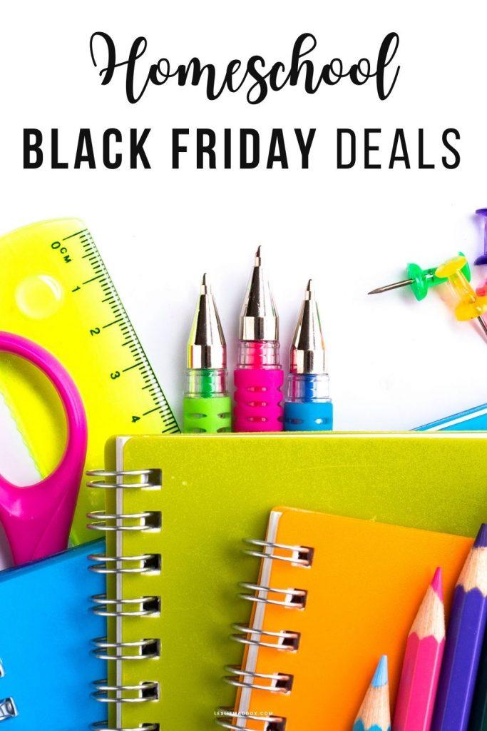Pin image for Homeschool Black Friday Deals Blog Post