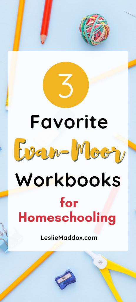 "Pinterest Pin for ""3 Favorite Evan-Moor Workbooks"" blog post."
