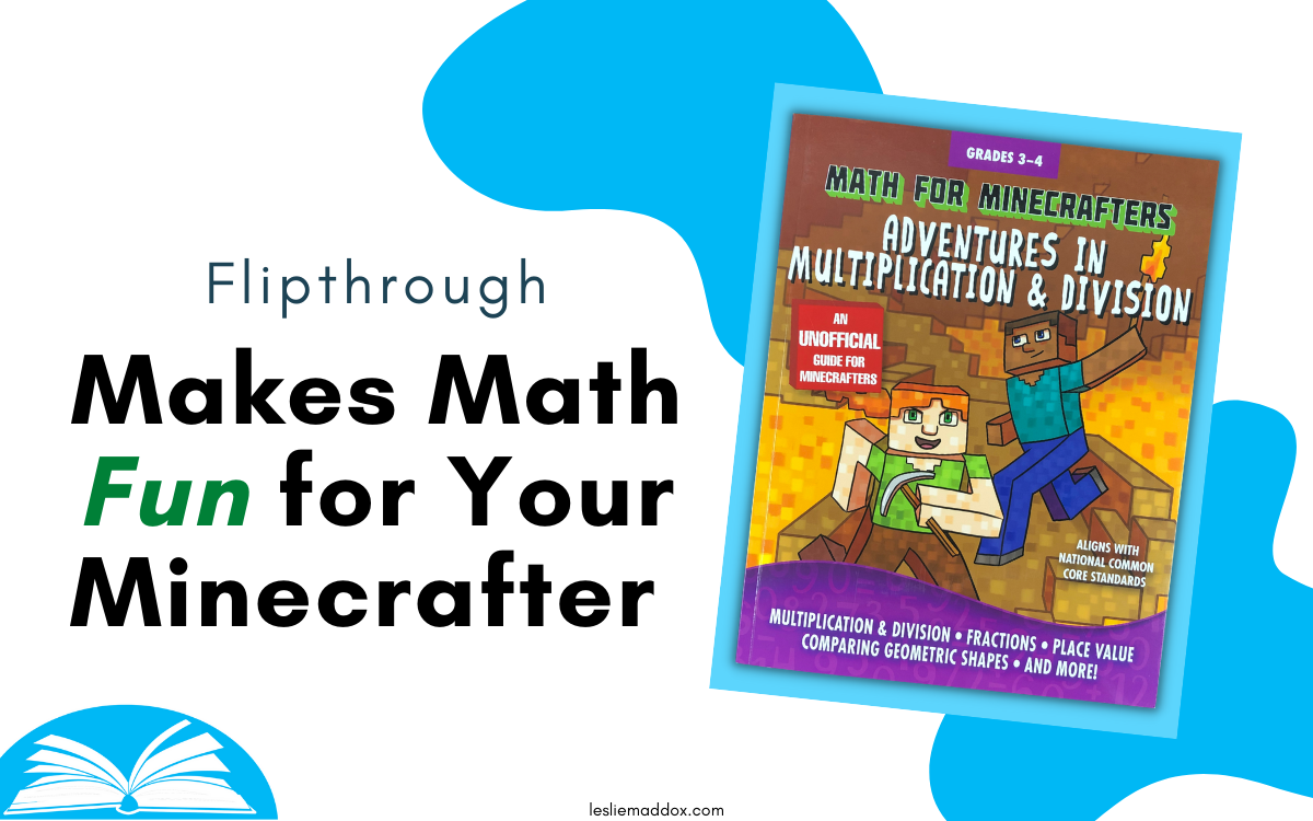 """Cover of Math for Minecrafters Multiplication & Division with Text """"Flipthrough - Makes Math Fun for Your Minecrafter"""""""